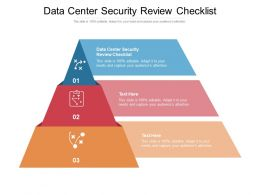 Data Center Security Review Checklist Ppt Powerpoint Presentation Inspiration Cpb