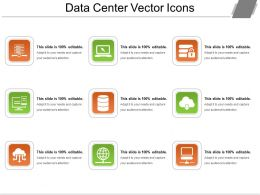 Data Center Vector Icons Ppt Samples Download