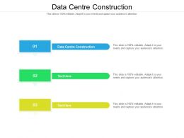 Data Centre Construction Ppt Powerpoint Infographic Template Icons Cpb