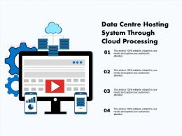 Data Centre Hosting System Through Cloud Processing