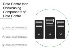 Data Centre Icon Showcasing Components Of Data Centre