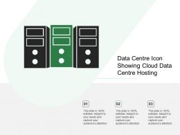 Data Centre Icon Showing Cloud Data Centre Hosting