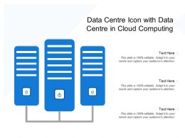 Data Centre Icon With Data Centre In Cloud Computing