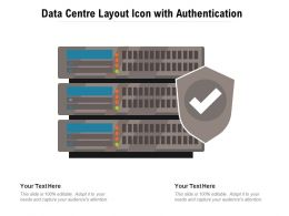 Data Centre Layout Icon With Authentication