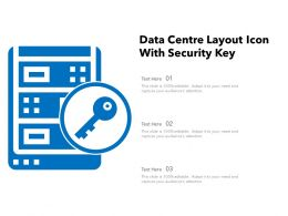 Data Centre Layout Icon With Security Key
