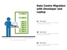 Data Centre Migration With Developer And Laptop