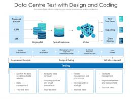 Data Centre Test With Design And Coding