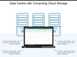 Data Centre With Computing Cloud Storage
