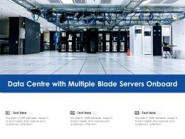 Data Centre With Multiple Blade Servers Onboard