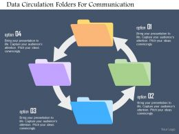 Data Circulation Folders For Communication Flat Powerpoint Design