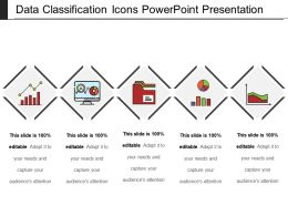 Data Classification Icons Powerpoint Presentation