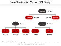 Data Classification Method Ppt Design