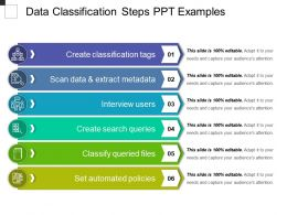 Data Classification Steps Ppt Examples