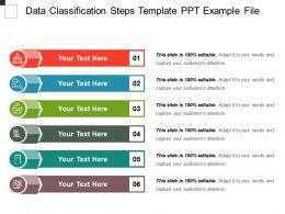 Data Classification Steps Template Ppt Example File