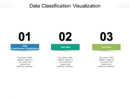 Data Classification Visualization Ppt Powerpoint Presentation Pictures Graphics Cpb