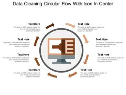 Data Cleaning Circular Flow With Icon In Center
