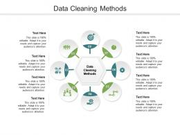 Data Cleaning Methods Ppt Powerpoint Presentation Infographic Template Brochure Cpb