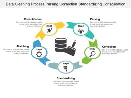 Data Cleaning Process Parsing Correction Standardizing Consolidation