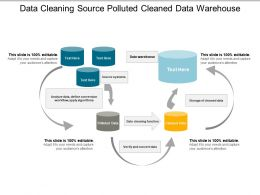 Data Cleaning Source Polluted Cleaned Data Warehouse