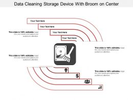 Data Cleaning Storage Device With Broom On Center