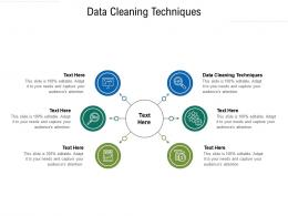 Data Cleaning Techniques Ppt Powerpoint Presentation Portfolio Clipart Cpb