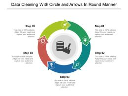 Data Cleaning With Circle And Arrows In Round Manner