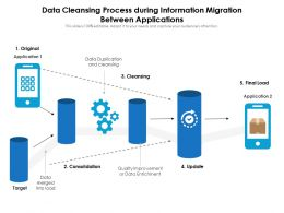 Data Cleansing Process During Information Migration Between Applications