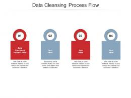 Data Cleansing Process Flow Ppt Powerpoint Presentation Infographic Template Elements Cpb