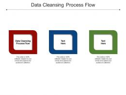 Data Cleansing Process Flow Ppt Powerpoint Presentation Portfolio Graphic Tips Cpb
