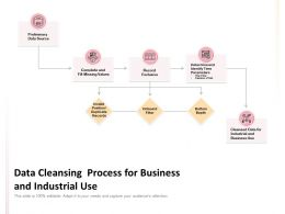 Data Cleansing Process For Business And Industrial Use