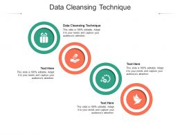 Data Cleansing Technique Ppt Powerpoint Presentation Portfolio Objects Cpb