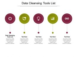 Data Cleansing Tools List Ppt Powerpoint Presentation Layouts Graphics Cpb