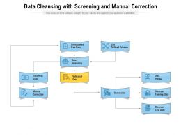 Data Cleansing With Screening And Manual Correction