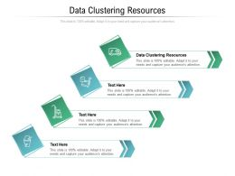 Data Clustering Resources Ppt Powerpoint Presentation Inspiration Slides Cpb