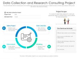 Data Collection And Research Consulting Project