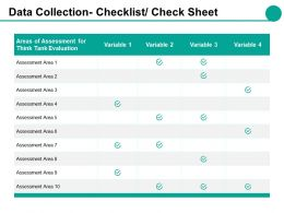 Data Collection Checklist Check Sheet Ppt Styles Ideas
