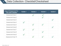 Data Collection Checklist Checksheet Ppt Slide