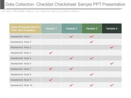 Data Collection Checklist Checksheet Sample Ppt Presentation