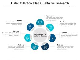 Data Collection Plan Qualitative Research Ppt Powerpoint Presentation Layouts Microsoft Cpb