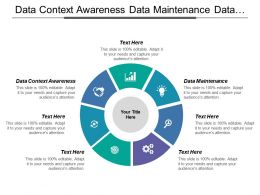 Data Context Awareness Data Maintenance Data Integration Data Lifecycle