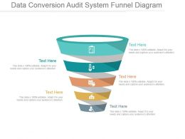 Data Conversion Audit System Funnel Diagram Powerpoint Show