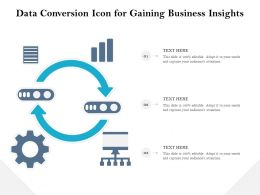 Data Conversion Icon For Gaining Business Insights