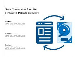 Data Conversion Icon For Virtual To Private Network