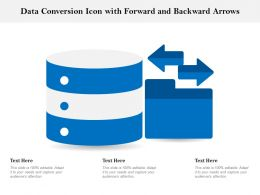 Data Conversion Icon With Forward And Backward Arrows