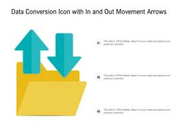 Data Conversion Icon With In And Out Movement Arrows
