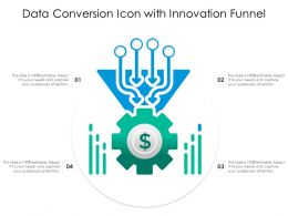 Data Conversion Icon With Innovation Funnel