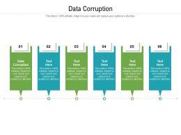 Data Corruption Ppt Powerpoint Presentation Inspiration Demonstration Cpb