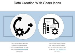 Data Creation With Gears Icons