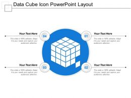 Data Cube Icon Powerpoint Layout