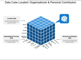 Data Cube Location Organisational And Personal Contribution
